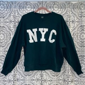 wild fable NYC Graphic Oversized Sweatshirt